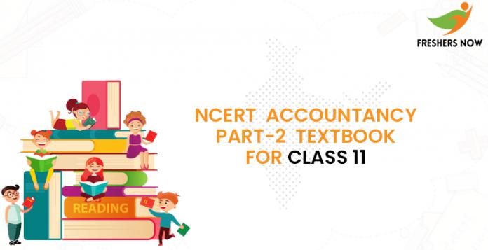 NCERT Accountancy Part-2 Class 11 Book