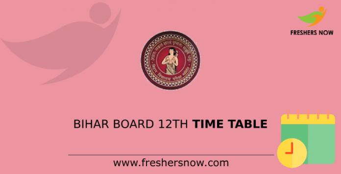 Bihar-Board-12th-Time-Table