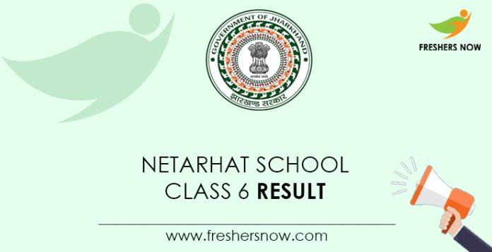 Netarhat-School-Class-6-Result