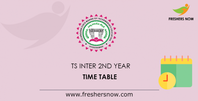 TS Inter 2nd Year Time Table