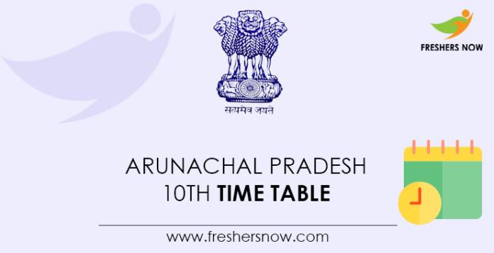 Arunachal-Pradesh-10th-Time-Table
