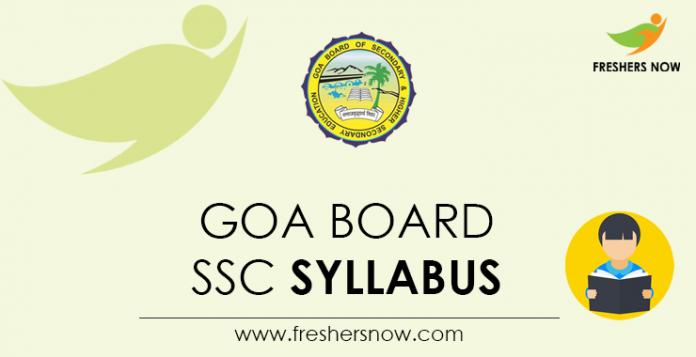 Goa Board SSC Syllabus