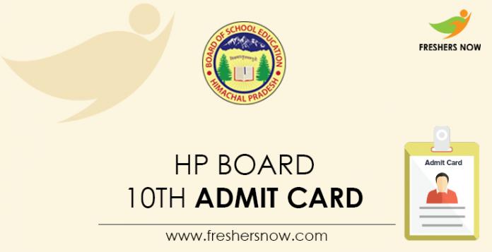 HP Board 10th Admit Card