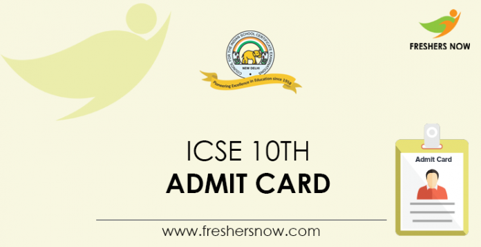 ICSE 10th Admit Card
