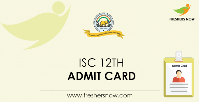 ISC 12th Admit Card