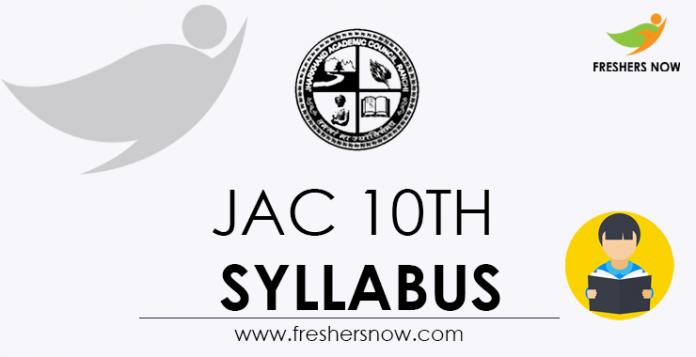 JAC 10th Syllabus