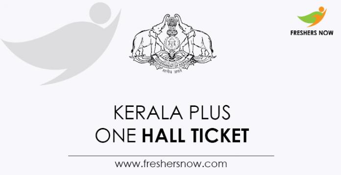 Kerala Plus One Hall Ticket