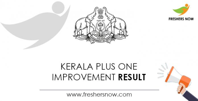 Kerala Plus One Improvement Result