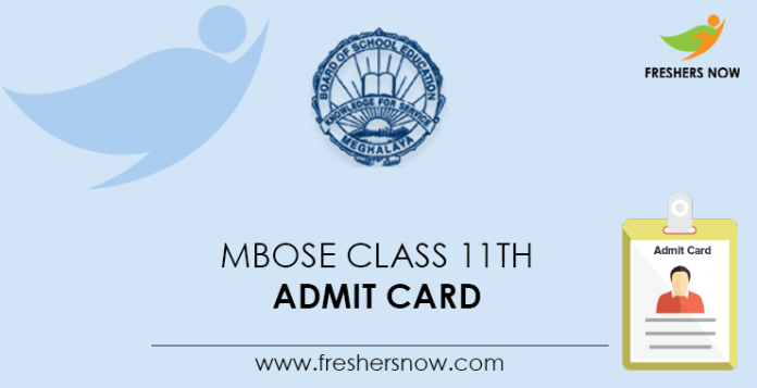 MBOSE Class 11th Admit Card