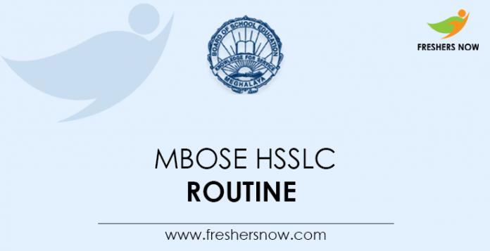 MBOSE-HSSLC-Routine
