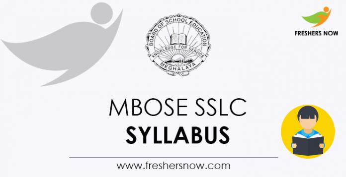 MBOSE SSLC Syllabus
