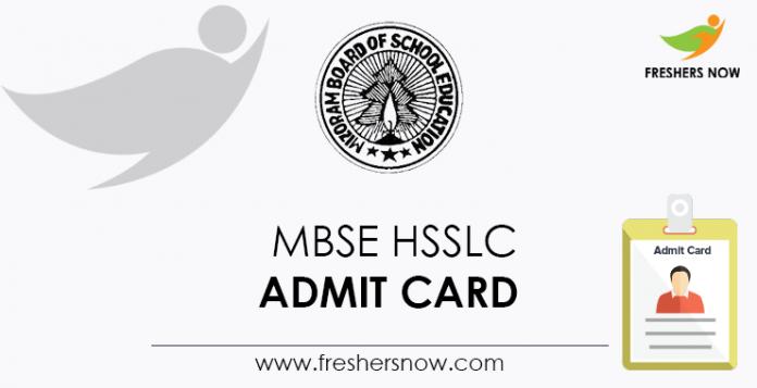 MBSE HSSLC Admit Card