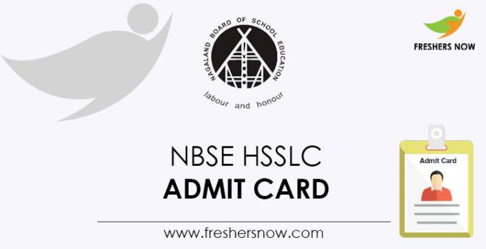 NBSE HSSLC Admit Card