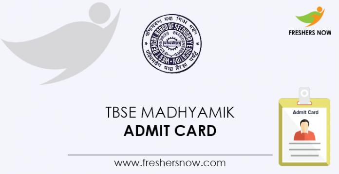 TBSE Madhyamik Admit Card