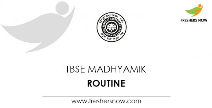 TBSE Madhyamik Routine