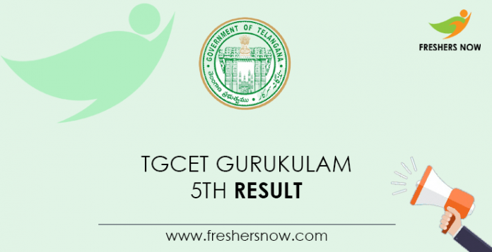 TGCET Gurukulam 5th Result