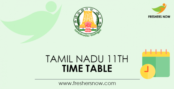TN 11th Time Table