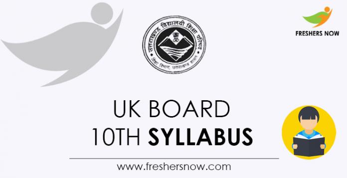 UK Board 10th Syllabus