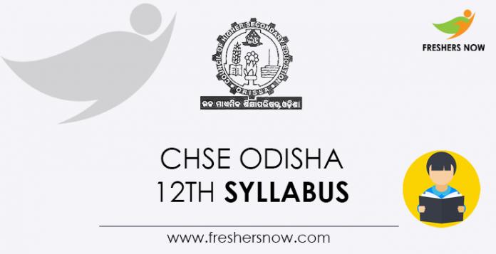 CHSE Odisha 12th Syllabus