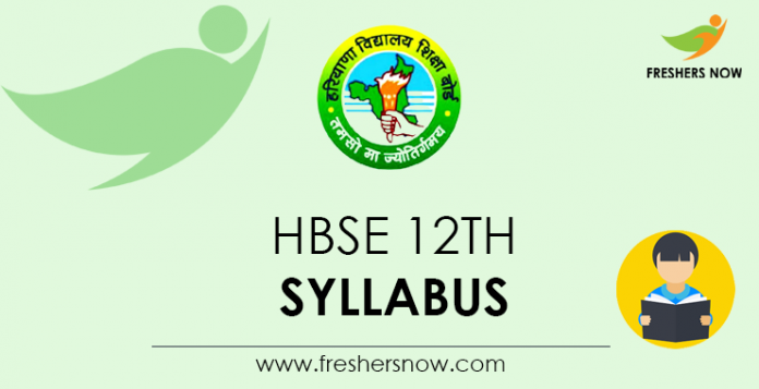 HBSE 12th Syllabus