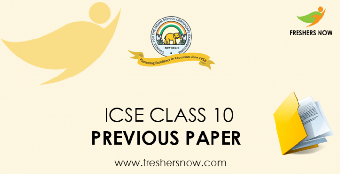 ICSE Class 10 Previous Papers