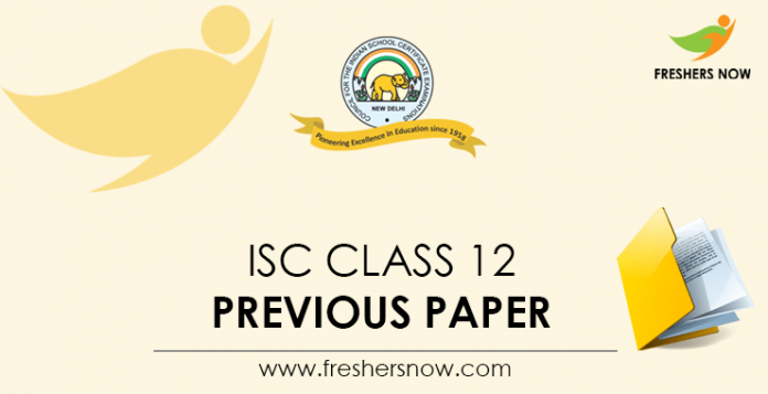 ISC Class 12 Previous Paper