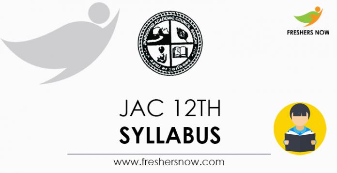 JAC 12th Syllabus