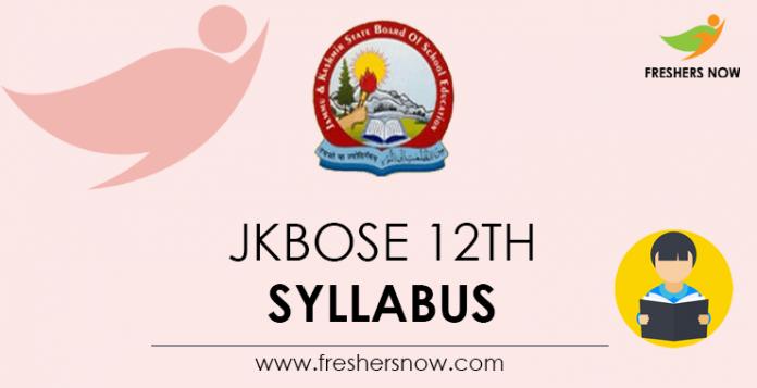 JKBOSE 12th Syllabus