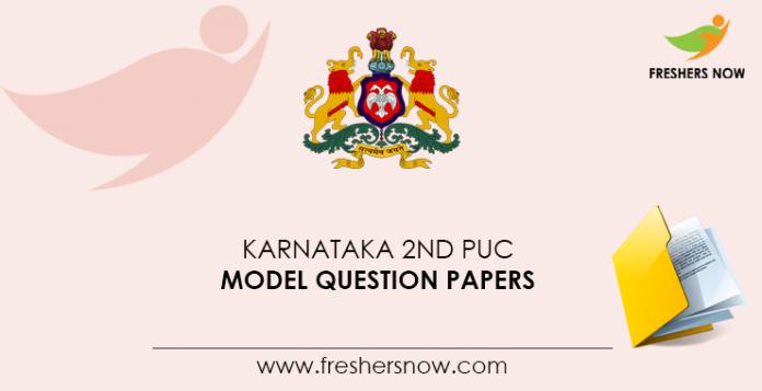 Karnataka 2nd PUC Model Question Papers
