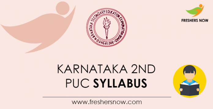 Karnataka 2nd PUC Syllabus