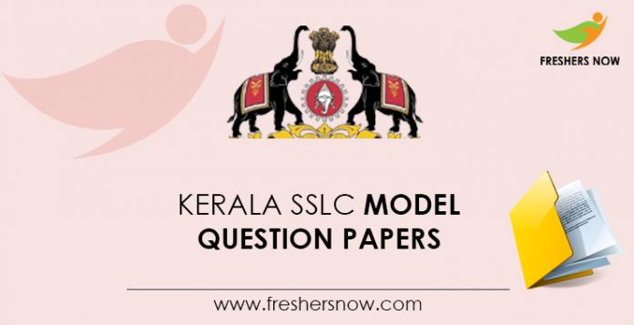 Kerala SSLC Model Question Papers