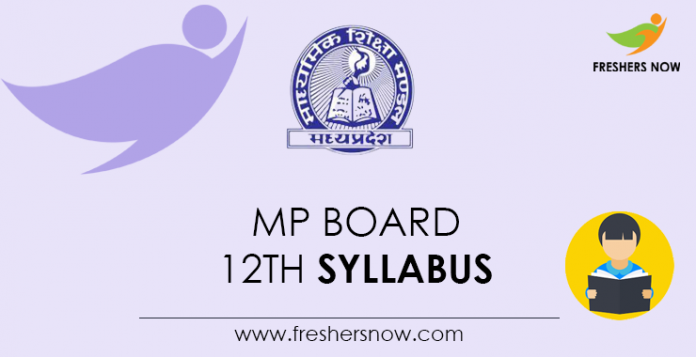 MP Board 12th Syllabus