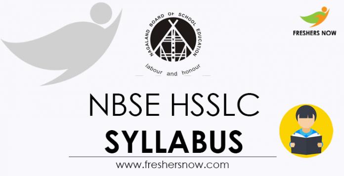 NBSE HSSLC Syllabus