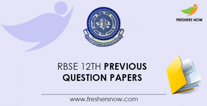 RBSE 12th Previous Question Papers