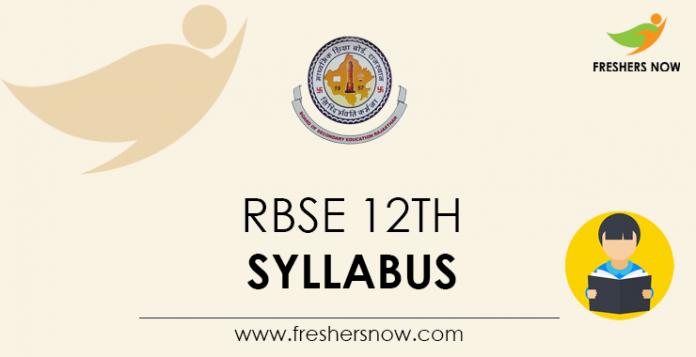 RBSE 12th Syllabus