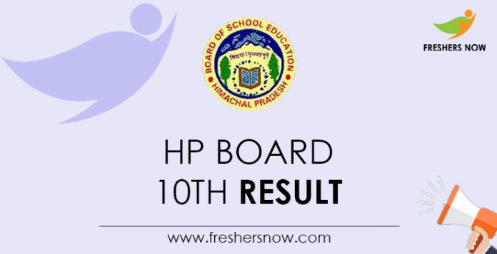 HP Board 10th Result