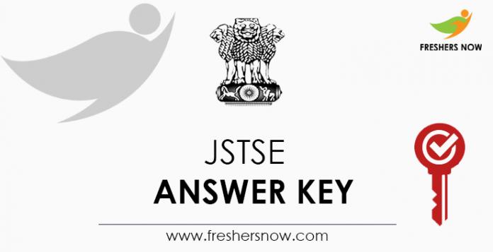 JSTSE Answer Key