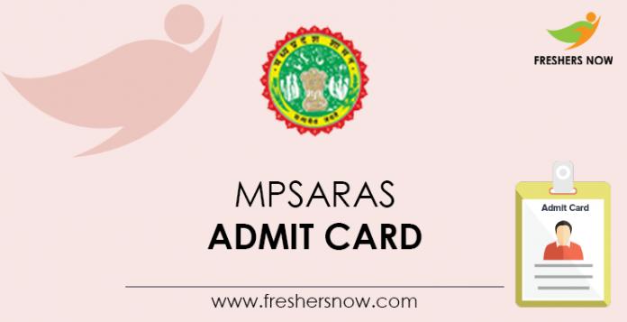 MPSARAS Admit Card