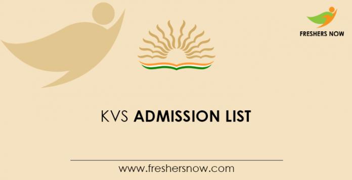 KVS Admission List