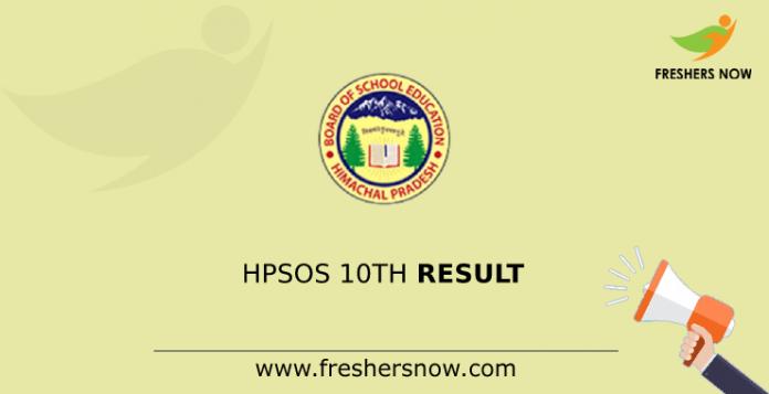 HPSOS 10th Result
