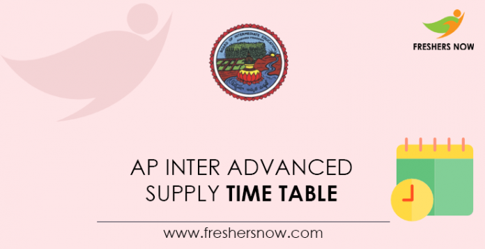 AP Inter Advanced Supply Time Table