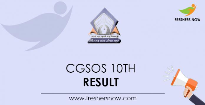 CGSOS 10th Result