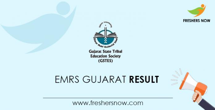 EMRS Gujarat Result