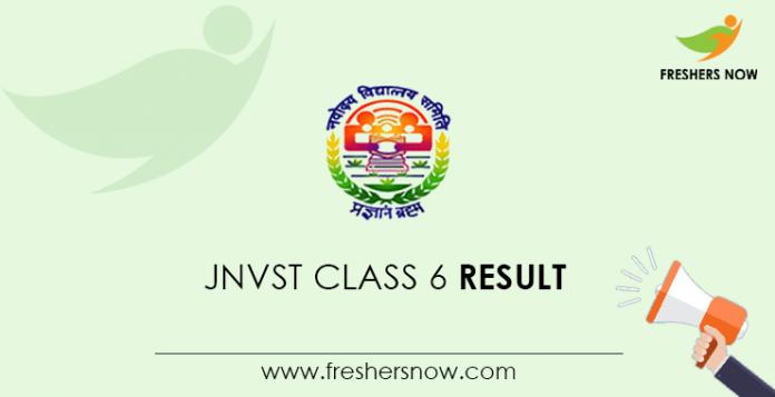JNVST Class 6 Result