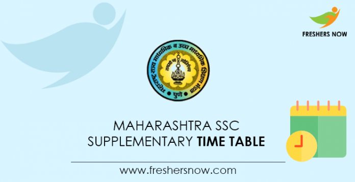 Maharashtra SSC Supplementary Time Table