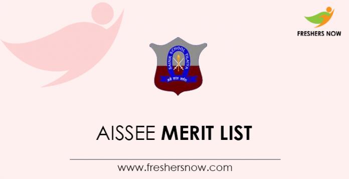 AISSEE Merit List