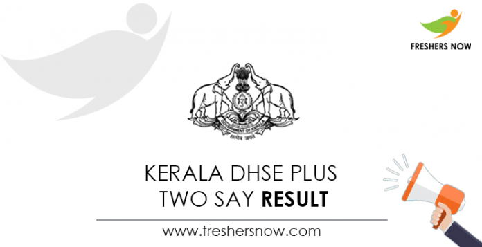 Kerala DHSE Plus Two SAY Result