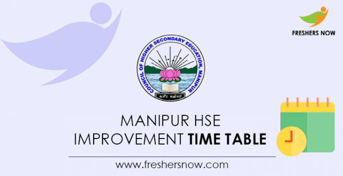 Manipur HSE Improvement Time Table