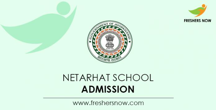 Netarhat School Admission