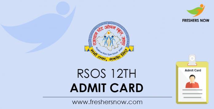 RSOS 12th Admit Card
